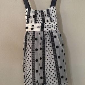 Roxette Overlay Polka Dot Girls Dress Size 12 #25